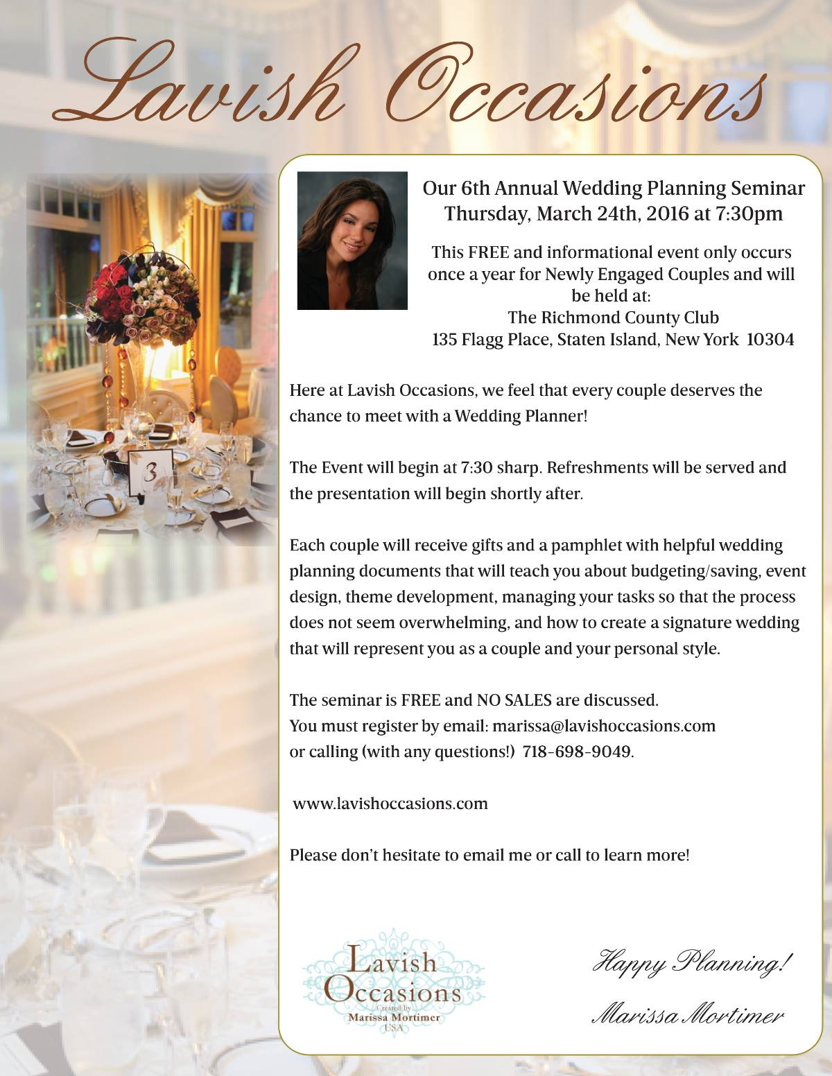 Annual Wedding Planning Seminar-fb